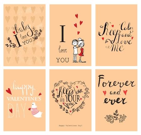 valentine day: Valentines day vintage lettering.