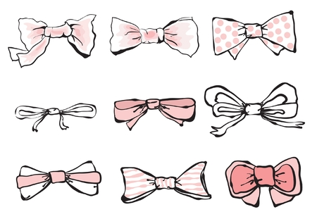 stage costume: Set of vector different bow