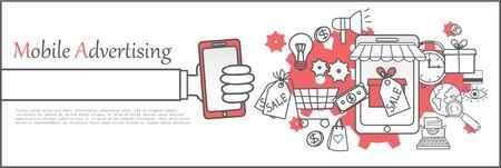 mobile advertising: Mobile advertising banner template.