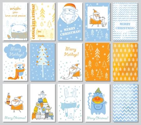 Collection of Christmas greeting cards templates 2018. Ilustração