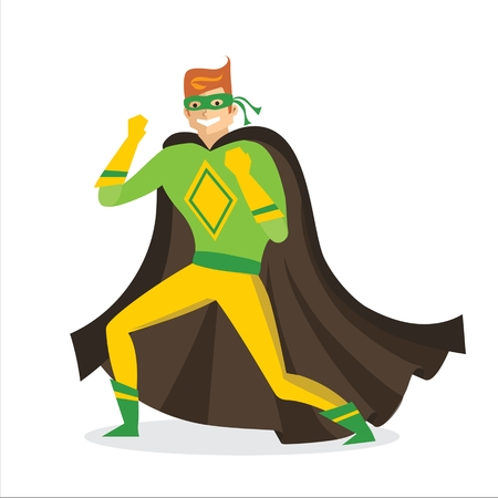 Vector illustration of man  in a comic costume Ilustrace