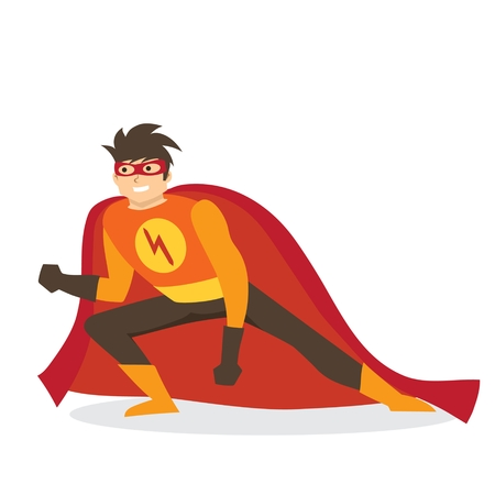 Comic costume vector illustration.