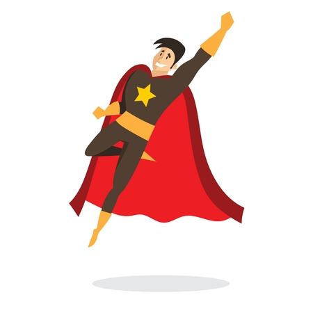 Vector illustration in a comic costume