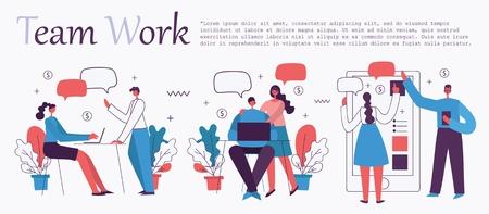 Vector illustration of the office concept Ilustración de vector