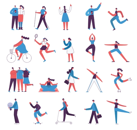 Vector illustration in different styles Illustration
