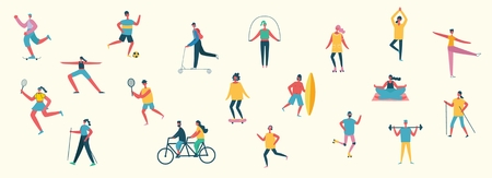 Vector illustration in flat design of group people