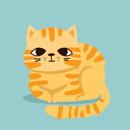 Cute vector illustration of cat pet Archivio Fotografico - 112627801