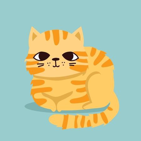 Nette Vektorillustration des Katzenhaustiers