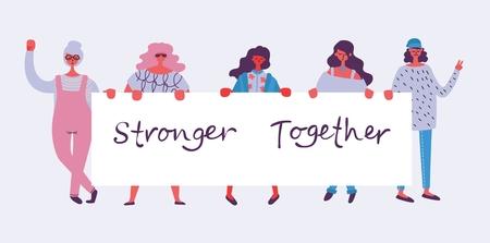 Più forti insieme. Concetto femminile e design dell'empowerment della donna