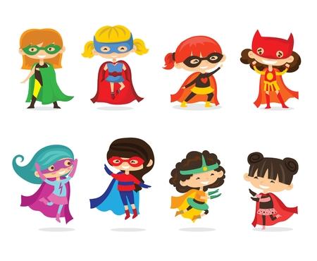 Cartoon vector illustration of Superheros