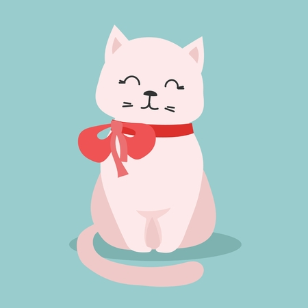 Cute vector illustration of a cat