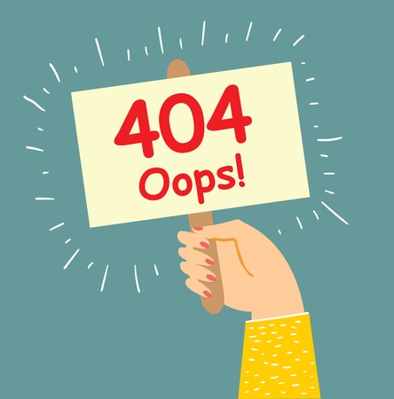 Concept 404 Error Page or File not found Illustration