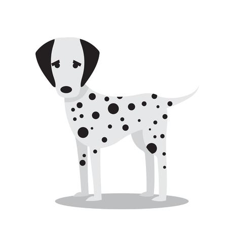 Vector illustration of cute and funny cartoon dalmatian dog Illustration