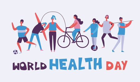 World health day backgroun sport