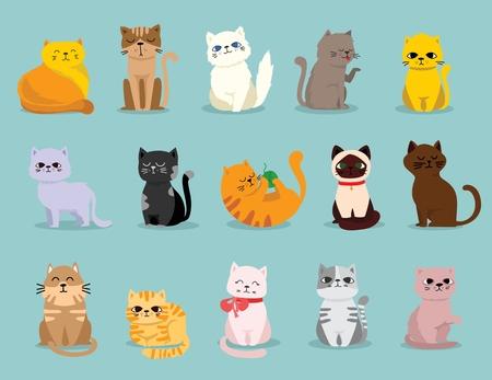 Niedliche Vektor-Illustration eines Haustiers in einem flachen Cartoon-Stil.