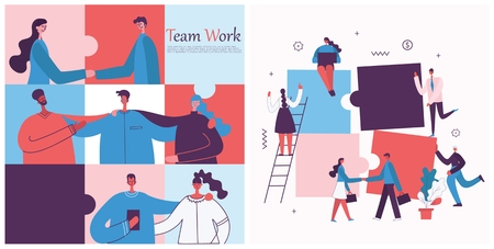 Vector illustration of the office concept business people