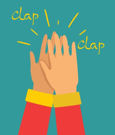 Vector illustration of hands clapping.