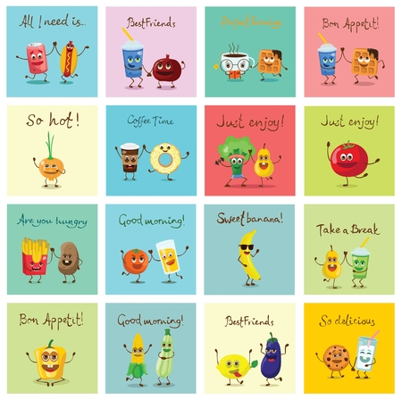 Funny food Illusztráció