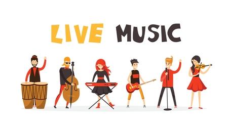 Vector illustration of a musician