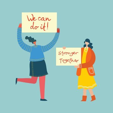 Happy Womens internarional day. Illustration