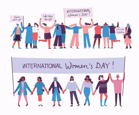 Día internarional de la mujer feliz.
