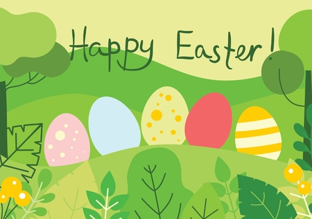 Happy Easter card. Illustration