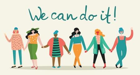 We are women. Feminine concept