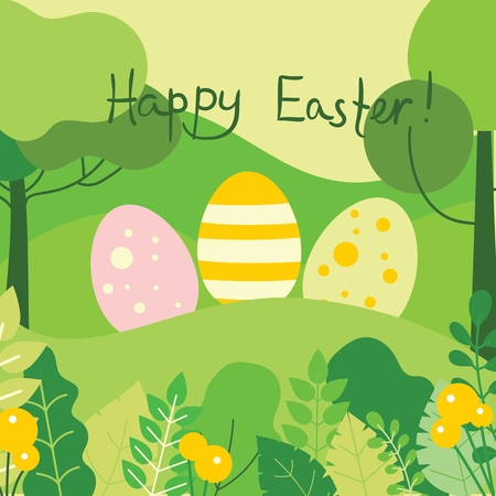Happy Easter card. Ilustrace