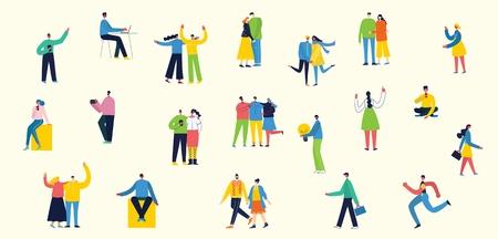 Vector illustration of different activities people Foto de archivo - 118812424