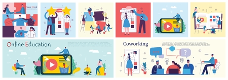 Vector illustrations of the office business people
