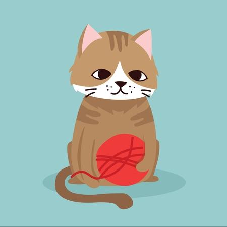 Vector illustration of cat pet