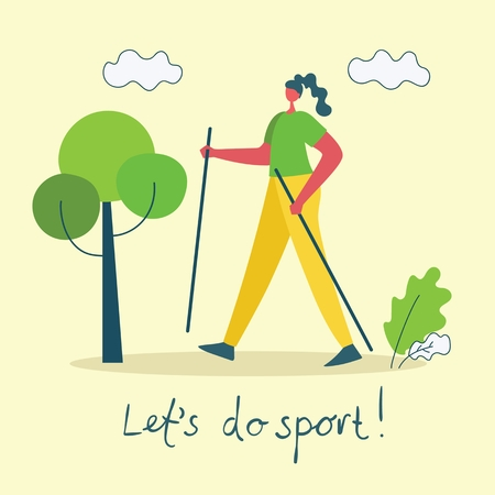 Vector illustration of a healthy lifestyle. 向量圖像