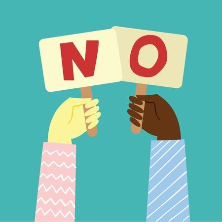 No or Stop concept design about motivation Ilustrace