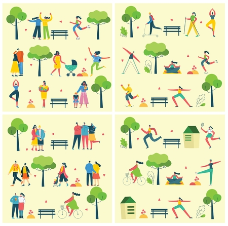 Vector background with different people 向量圖像