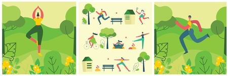 Vector illustration concept of men and women 向量圖像