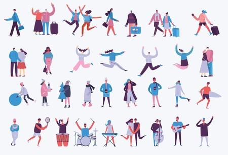 Vector illustration of different activities people. Foto de archivo - 122418993