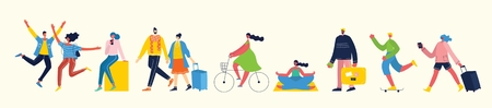 Vector illustration of different activities.