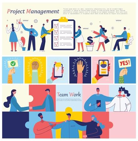 Vector illustrations concept business people. Ilustração
