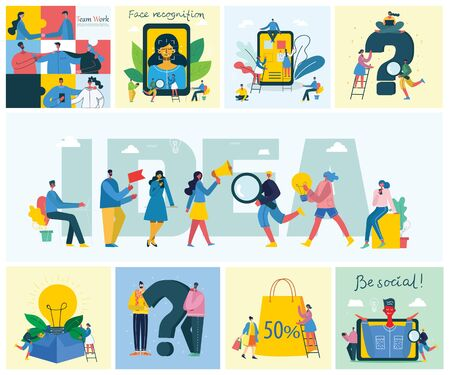 Vector illustration of concept of Team work