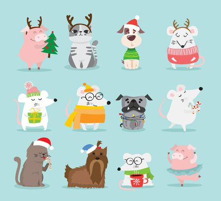 Christmas and new year greetings. Ilustração