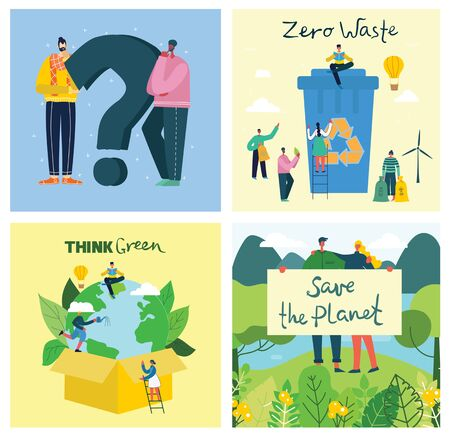 Vector illustration ECO of Concept of Save the planet
