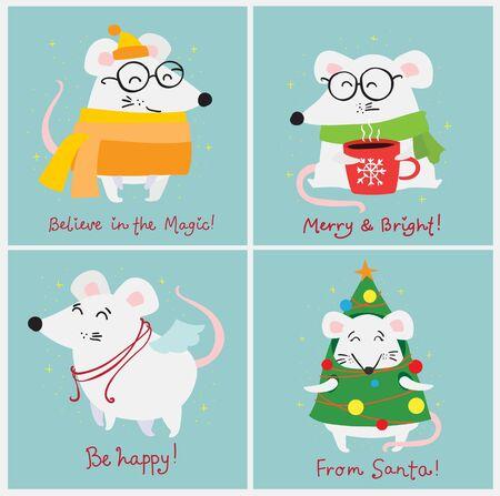 Simple illustration for the greeting card Ilustração