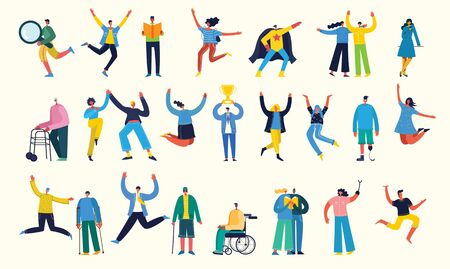 Vector illustration of different activities people