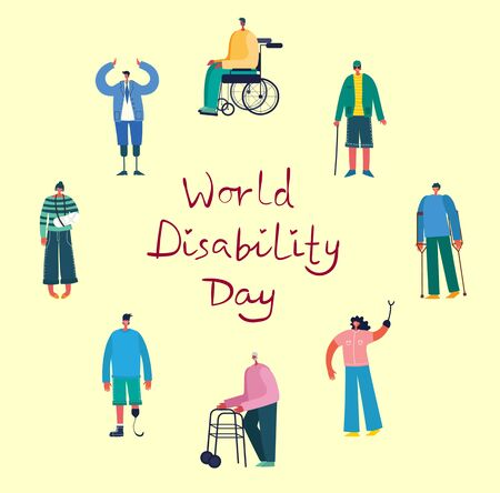 World Disability Day on yellow