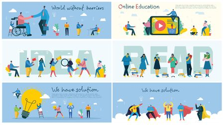 Vector illustration of concept of online education.