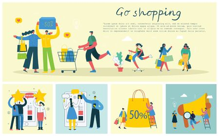 Shopping concept for and mobile website development.