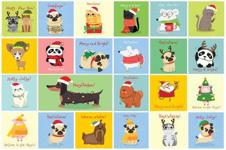 Vector illustration of christmas cats Stock Vector - 137552470