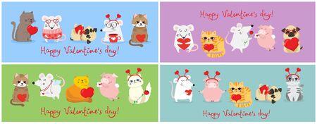 Happy Valentine's Day. Stock Vector - 137701892