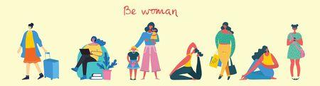 Happy Women's internarional day. Ilustração