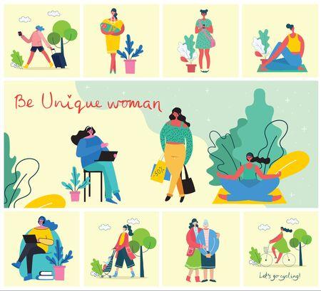 Concept of women unique background. Stok Fotoğraf - 137890694